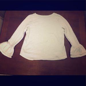 Long sleeve shirt with ruffles